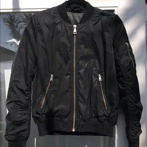 Topshop black bomber jacket size 6